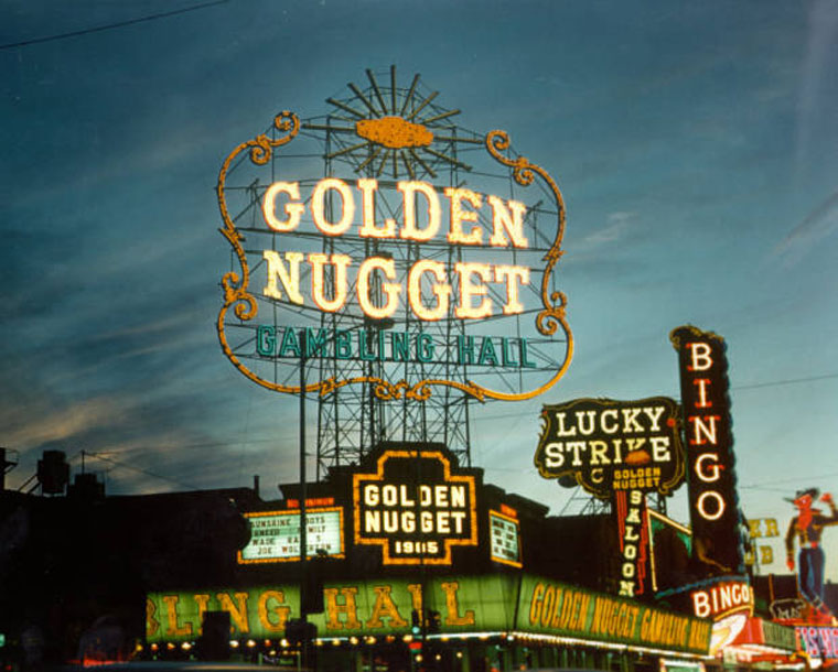Hermon Boernge's Golden Nugget Sign