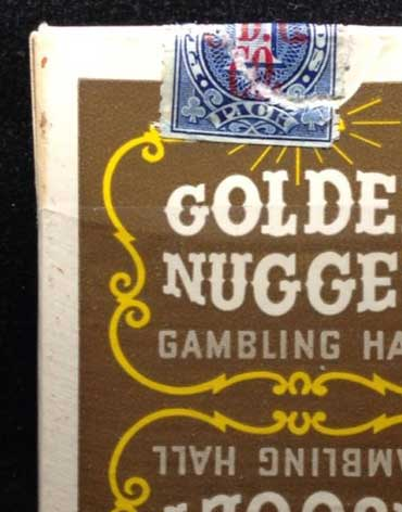 Golden Nugget Casino Playing Cards Brown - Type 1
