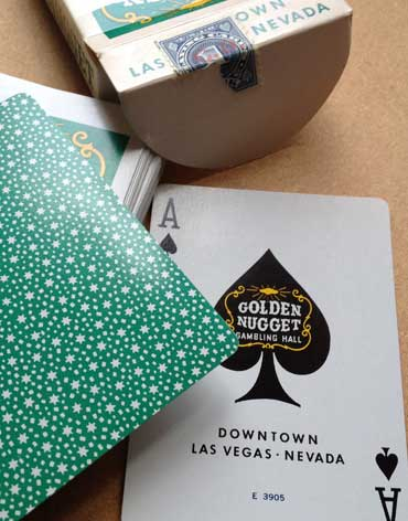 Golden Nugget Casino Playing Cards Ace Of Spades - Type 1