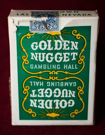Golden Nugget Casino Playing Cards Green - Type 1