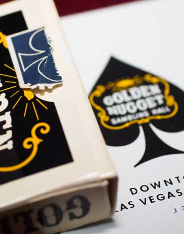 Golden Nugget Casino Playing Cards Black - Type 2