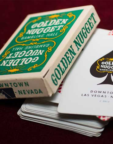 Golden Nugget Casino Playing Cards Green - Type 2