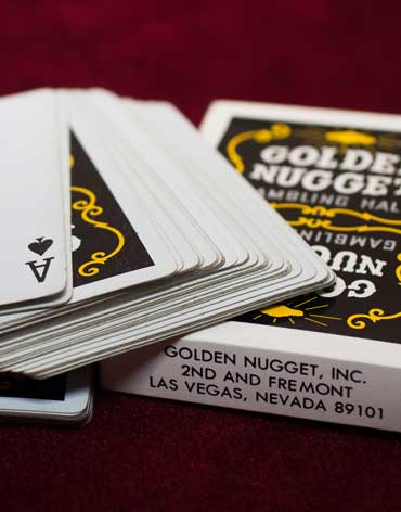 Golden Nugget Casino Playing Cards Black - Type 3