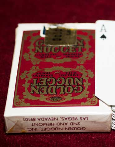 Golden Nugget Casino Playing Cards Red/Gold - Type 4