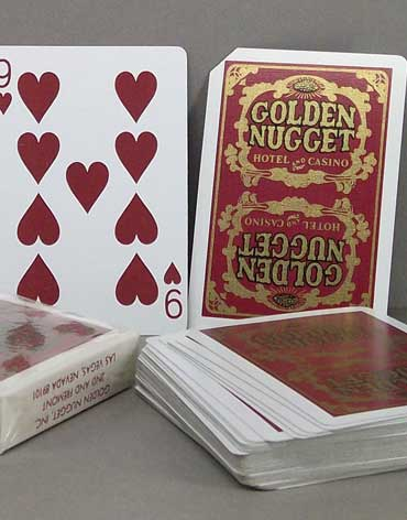 Golden Nugget Casino Playing Cards Red - Type 5