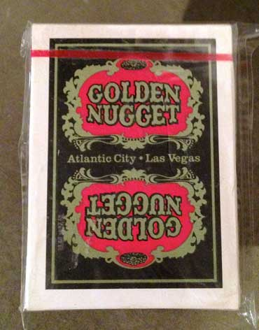Atlantic City Golden Nugget Casino Playing Cards Black - Type 6