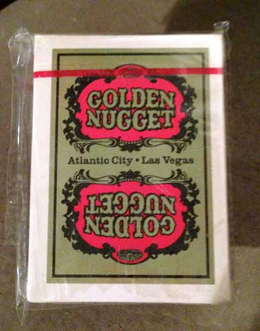 Atlantic City Golden Nugget Casino Playing Cards Gold - Type 6