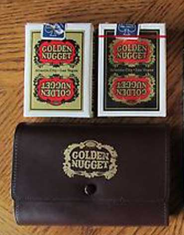 Atlantic City Golden Nugget Casino Playing Cards Black & Gold - Type 6